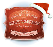 Happy New Year And Seasons Greetings Badge Stock Photography