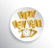 Happy new year 2017. Seasons Greetings. clock design.  Stock Photography
