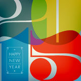 Happy 2015. Happy new 2015 year. Seasons Greetings. Colorful design royalty free illustration