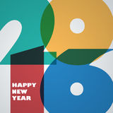Happy new 2016 year. Seasons Greetings. Colorful design. Vector Stock Photo