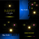Happy new year. Set of happy new year backgrounds, Vector illustration Stock Image