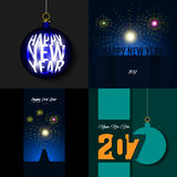 Happy new year. Set of happy new year backgrounds, Vector illustration Stock Photos