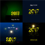 Happy new year. Set of happy new year backgrounds, Vector illustration Royalty Free Stock Photos