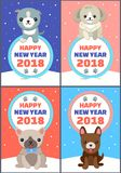 Happy New Year Set of Banners Vector Illustration stock illustration