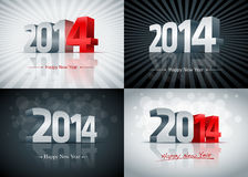 2014 Happy New Year Set. 2014 Happy New Year card set. All elements are layered separately. Easy editable Stock Photos