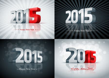2015 Happy New Year Set. 2015 Happy New Year card set. Elements are layered separately. Easy editable royalty free illustration