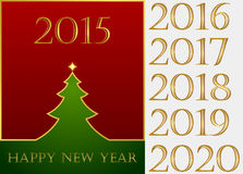 Happy New Year. Set. Christmas greeting card, set, New Year Royalty Free Stock Images