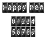 Happy New Year Set of numbers time table Stock Photography