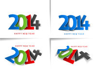 Happy new year 2014. Set of Happy new year 2014 Text Design vector illustration