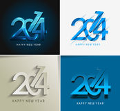 Happy new year 2014. Set of Happy new year 2014 Text Design royalty free illustration