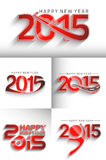 Happy new year 2015. Set of Happy new year 2015 Text Design Stock Image