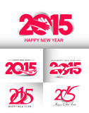 Happy new year 2015. Set of Happy new year 2015 Text Design Stock Photography