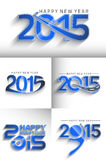Happy new year 2015. Set of Happy new year 2015 Text Design Stock Photos