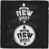 Happy New Year Set Of Typographic Design Royalty Free Stock Images