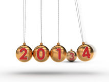 Happy New Year 2014. Setting the new year into action Royalty Free Stock Photography