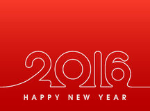 2016 Happy New Year. Sewing style in red Stock Image