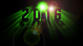 Happy new year 2016. Shade of green and flare Royalty Free Stock Image