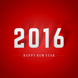 Happy New Year 2016 and 2015 shadow 3d message Royalty Free Stock Images
