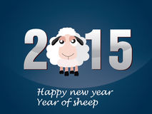 Happy new year 2015. Year of sheep Royalty Free Stock Image