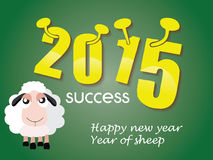 Happy new year 2015. Year of sheep Royalty Free Stock Photography