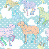 Happy new year of sheep Royalty Free Stock Photography