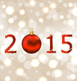 Happy new year shimmering background Royalty Free Stock Images