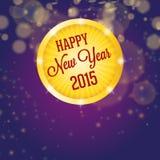 Happy new year 2015, shining circle Royalty Free Stock Photography