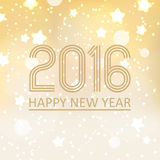 Happy new year 2016 on shiny christmas background eps10 Royalty Free Stock Photography