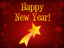 Happy New Year shooting star Stock Photo