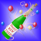 Happy New Year Shows Parties Celebration And New-Year Royalty Free Stock Photo