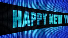Happy New Year 2024 Side Text Scrolling LED Wall Pannel Display Sign Board