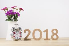 Happy New Year. Sigh symbol from number 2018.  Stock Images
