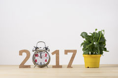 Happy New Year. Sigh symbol from number 2017.  Royalty Free Stock Images