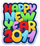 Happy New Year sign 2011. Illustration stock illustration