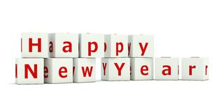 Happy New Year sign. On bricks stock illustration