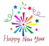 Happy new year sign design Stock Photos