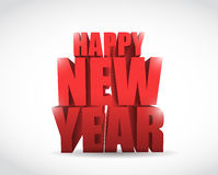 Happy new year sign illustration design Royalty Free Stock Image