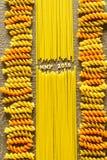 Happy New Year 2016 sign using pasta arrangement Stock Photo