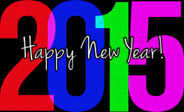 2015 Happy New Year. Happy New Year 2015 Sign in Vivid Colors royalty free illustration