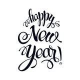 Happy New year 2017 sign on white background. Calligraphy text isolate on white. winter theme template. Vector vector illustration
