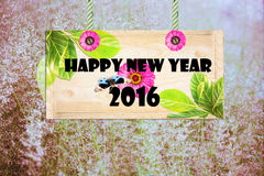 Happy new year  signpost Royalty Free Stock Photos
