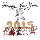 Happy New Year singing team Royalty Free Stock Photography