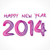 Happy new year 2014. Sketch background Royalty Free Illustration