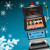 Happy New Year slot machine stock illustration