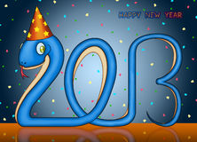 Happy new year of the small snake 2013 Stock Photos