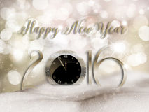 Happy New Year snow background. Happy New Year background with mounds of snow Royalty Free Stock Image