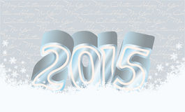 Happy new 2015 year snow card. Vector illustration Royalty Free Stock Photography