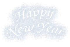 Happy New Year snow mark on white Royalty Free Stock Photos