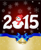 Happy New Year 2015 From Snow Royalty Free Stock Images