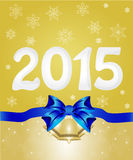 Happy New Year 2015 From Snow Stock Photos